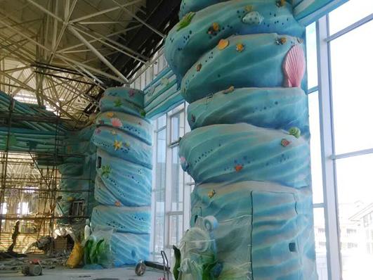 制作的水柱水泥雕塑